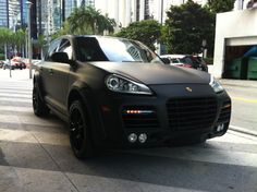 Porsche Cayenne with Black Matte Finish