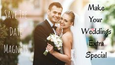 Announce the date of your wedding well in advance with these save the date magnets and facilitate your guests to make their travel plans on time. Save The Date Magnets, Trip Planning, Giveaways, Free Design, One Shoulder Wedding Dress, Dating, How To Plan, Wedding Dresses, Birthday