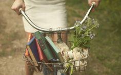 bike, basket, books, beauty