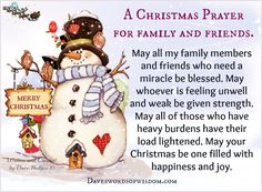 A Christmas Prayer for Family & Friends. Christmas Prayer For Family, Christmas Blessings, Christmas Mood, Christmas Quotes, Christmas Signs, Christmas Greetings, Christmas Cards, Merry Christmas, Christmas Scenery