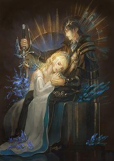 [FFXV]Noctis and Lunafreya by Athena-Erocith.deviantart.com on @DeviantArt