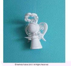 Christmas Ornament Paper Quilling Angel Ornament Quilling Paper or Quilled Decoration for Curio Cabinet