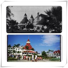 The famous #HotelDelCoronado then and now in #SanDiego #California
