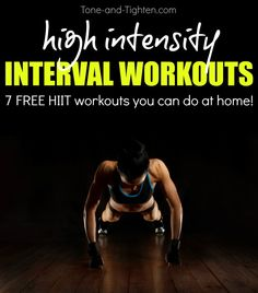 One week of great HIIT workouts you can do at home! From Tone-and-Tighten.com