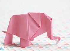 Origami Elefant falten – Anleitung + Vorlage für Papier/Geldschein