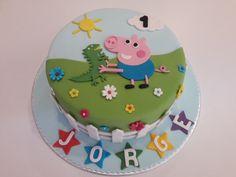"""Tarta """"George Pig"""" Tarta George Pig, George Pig Cake, George Pig Party, Cake Peppa Pig, Tortas Peppa Pig, Fiestas Peppa Pig, 2nd Birthday Cake Boy, Peppa Pig Birthday Cake, Aniversario Peppa Pig"""