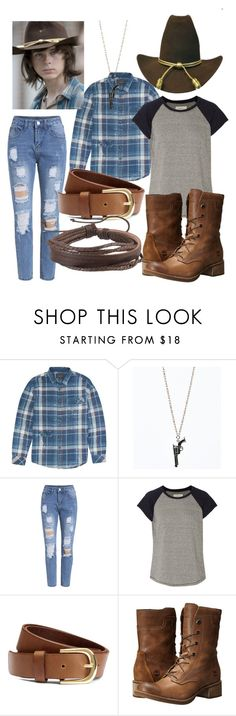 """""""Walking Dead: Carl Grimes"""" by deathbat37 ❤ liked on Polyvore featuring Billabong, Current/Elliott, H&M, Timberland and Zodaca"""