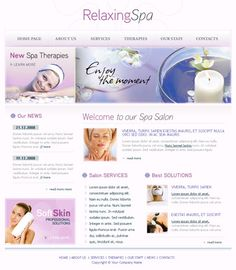 Free Spa Website Template