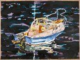 "Sakonnet IRoger Kizik - Watercolor, acrylic 22""x30""- 2011 Exhibited at Dedee Shattuck Gallery May 2012"