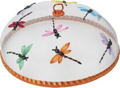 "Woodard & Charles Dragonfly Food Dome WDS 015 by Woodard & Charles. $9.99. Woodard & Charles Dragonfly Food Dome WDS 015hand-crafted food dome keeps food pest-freefeatures embroidered dragonfly motif measures 14"" x 5.5"". Made in the Phillipines."