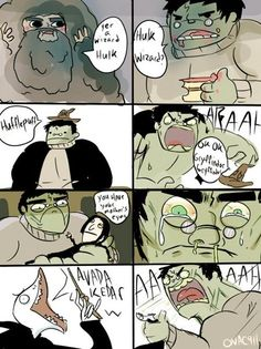 The Hulk as Harry