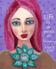 Mixed Media Painting by Suzi Blu