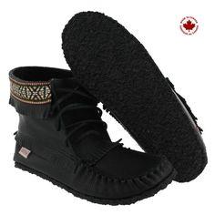 SoftMoc Women's 137597 black fringe bootie moccasins 137597 BLK L