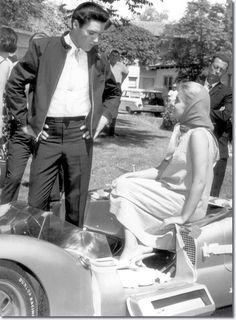 Elvis Presley and Ann-Margret on the set of 'Viva Las Vegas'
