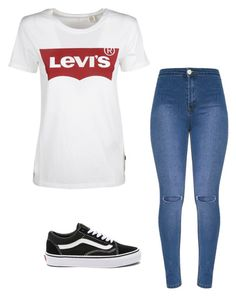 """Levi's"" by fashionismyfood97 on Polyvore featuring mode, Levi's en Vans"