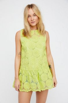 Womens SUNFLOWERS LACE DRESS - Bohemian Summer Fashion Trend 2017