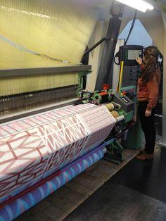 Tea towels on the Jacquard weaving machine, design RAW COLOR, production TextielLab Tilburg