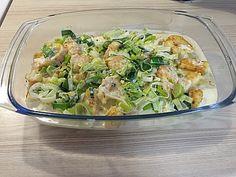 Putenschnitzel mit Röstis in Lauch - Käsesoße überbacken   *lecker*