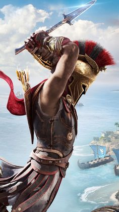 Assassin's Creed Odyssey Free Ultra HD Mobile Wallpaper Assassins Creed Art, Assassins Creed Odyssey, Greek Warrior, Fantasy Warrior, Ancient Rome, Ancient Greece, Types Of Gladiators, Assassin's Creed Wallpaper, Spartan Tattoo