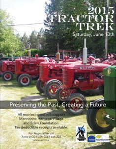 Tractor Trek Event Poster