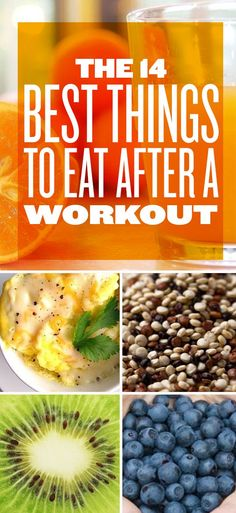 The 14 Best Things To Eat After A Workout. These supply nutrients like proteins, carbohydrates, vitamins and minerals which help restore your energy and build muscles after a workout.
