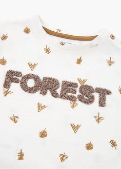 T-shirt algodão mensagem   MANGO KIDS