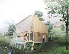 Architecture Portfolio Layout, Architecture Collage, Landscape Architecture Design, Green Architecture, Sustainable Architecture, Bamboo House Design, Tin House, Shed Design, Earthship