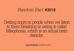 I guess I have a brain disorder...