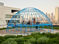 Jonathan Nesci brings an adult jungle gym to Chicago's Ace Hotel Chicago Hotels, Chicago City, Chicago Illinois, Rooftop Lounge, Rooftop Bar, Lobby Lounge, Complex Systems, Outdoor Restaurant, Jungle Gym