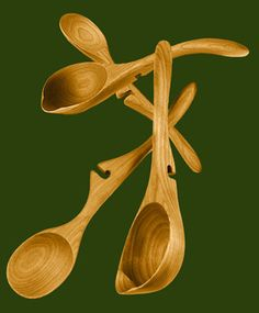 Hand Made Wooden Spoons