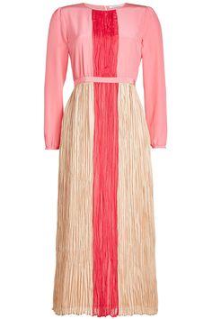 Agnona - Silk Dress with Pleated Detail