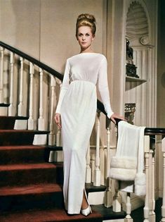 Tippi Hedren's white dress in 'Marni' by Edith Head (1964)