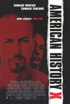 American History X 27x40 Movie Poster (1998) Avery Brooks, Hurt Locker, Series Movies, X Movies, Film Posters, Good Movies To Watch, Nice Movies, Awesome Movies, Action Movie Poster