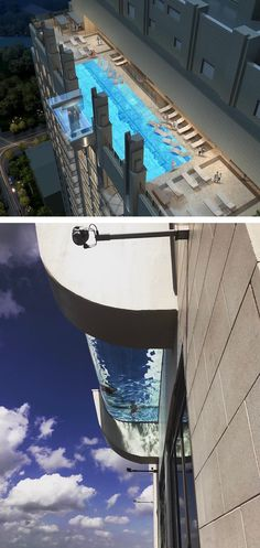 The sky pool at the Market Square Tower in Houston is not for the faint of heart, it's intriguing and terrifying all at the same time.