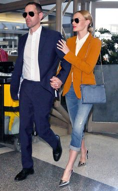 Kate Bosworth does professional denim-dressing RIGHT! // #celebritystyle