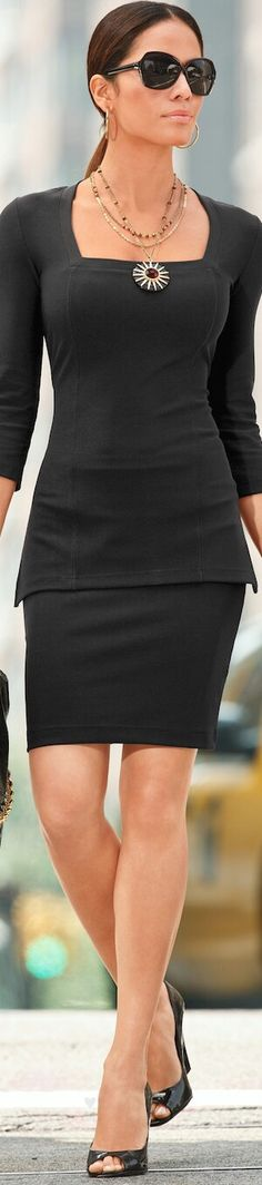 Cool Style. Love the square neckline!!!!