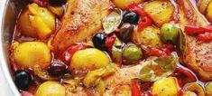 Κοτόπουλο με ελιές, στο τηγάνι