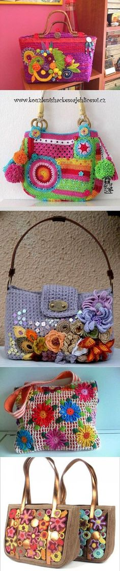 """New Cheap Bags. The location where building and construction meets style, beaded crochet is the act of using beads to decorate crocheted products. """"Crochet"""" is derived fro Love Crochet, Bead Crochet, Crochet Flowers, Crochet Earrings, Handbag Patterns, Cheap Bags, Crochet Purses, Knitted Bags, Crochet Accessories"""