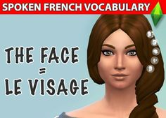 Learn French With The Sims - The Face - Le Visage - Learn French
