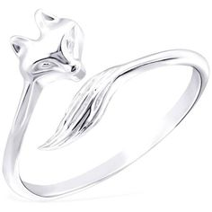 Lucy Loves Neko Fox Ring In Sterling Silver ($30) ❤ liked on Polyvore featuring jewelry, rings, fox jewelry, sterling silver jewellery, sterling silver rings, fox ring and sterling silver jewelry