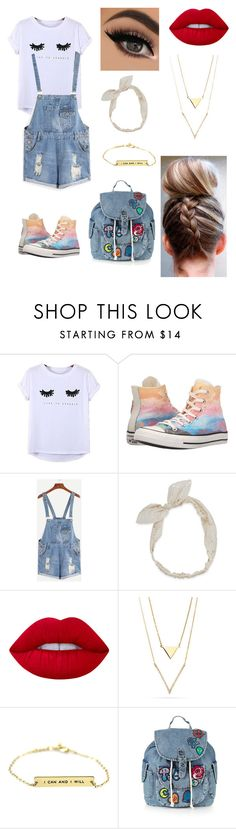 """School"" by paigevjacobs on Polyvore featuring Chicnova Fashion, Converse, Carole, Lime Crime and Topshop"