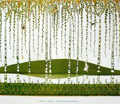 1908. Art Nouveau  Work of Elek Falus, end-paper of a book. Hungarian Art Nouveau, called Secession. Book of Applied Arts. Chapter: New Art of 20th Century.