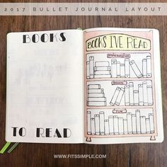 Welcome to my 2017 Bullet Journal. Once I move from the future logs, I start thinking about my yearly collection pages. These pages will be visited and updated frequently throughout the year.   The first collection is dedicated to books I want to read (often recommendations) and books I've read.