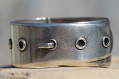 Vintage Mexican Modernist sterling silver bracelet by one of the Taxco masters, Antonio Pineda.