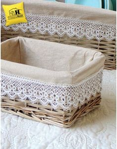 New sewing storage fabric diy crafts ideas Ramadan Decoration, Basket Decoration, Craft Storage, Storage Baskets, Diy Home Crafts, Diy Home Decor, Sewing Pattern Storage, Sewing Patterns, Diy Para A Casa
