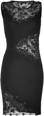 VERSACE Lace-Knit Dress in Black