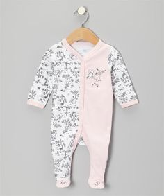 1-Piece Footed Coverall Bear Toile – Vitamins Baby