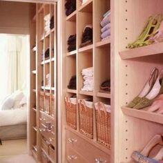 Wardrobe organisation - sliding baskets for drawers