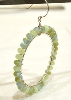 Beaded Hoop Earring - Tutorial.