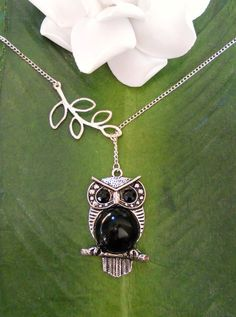 Hey, I found this really awesome Etsy listing at https://www.etsy.com/listing/86274888/silver-owl-with-branch-lariat-necklace
